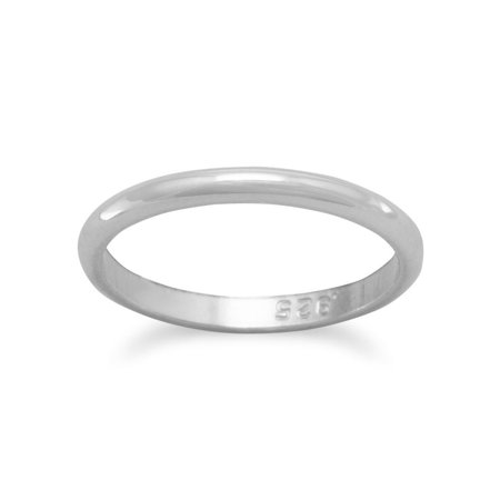 Sterling Silver Silver Baby Ring Polished Measures 1.5mm Wide - Ring Size: 1 to 3