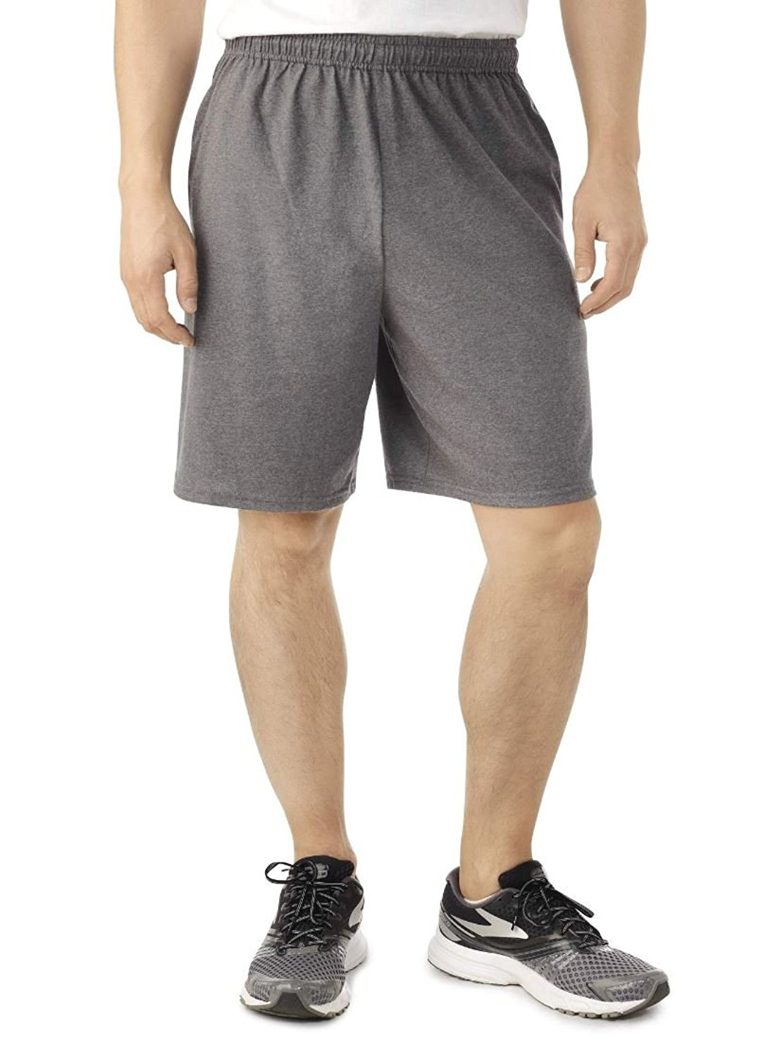 Fruit of the Loom Men's Jersey Shorts with Side Pockets