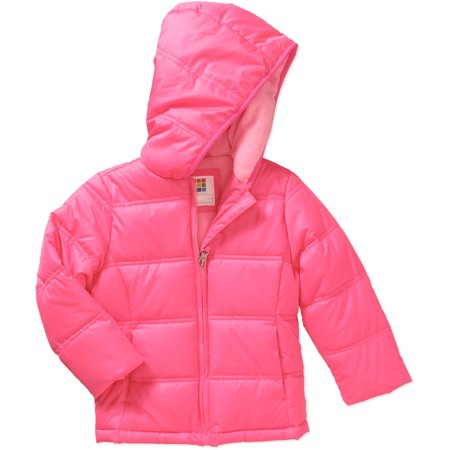 f96c97e2f Healthtex - Baby Toddler Girls  Bubble Puffer Jacket - Walmart.com