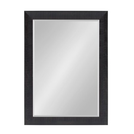 Kate and Laurel - Reyna Large Framed Rectangle Wall Mirror, 30 x 42 Black