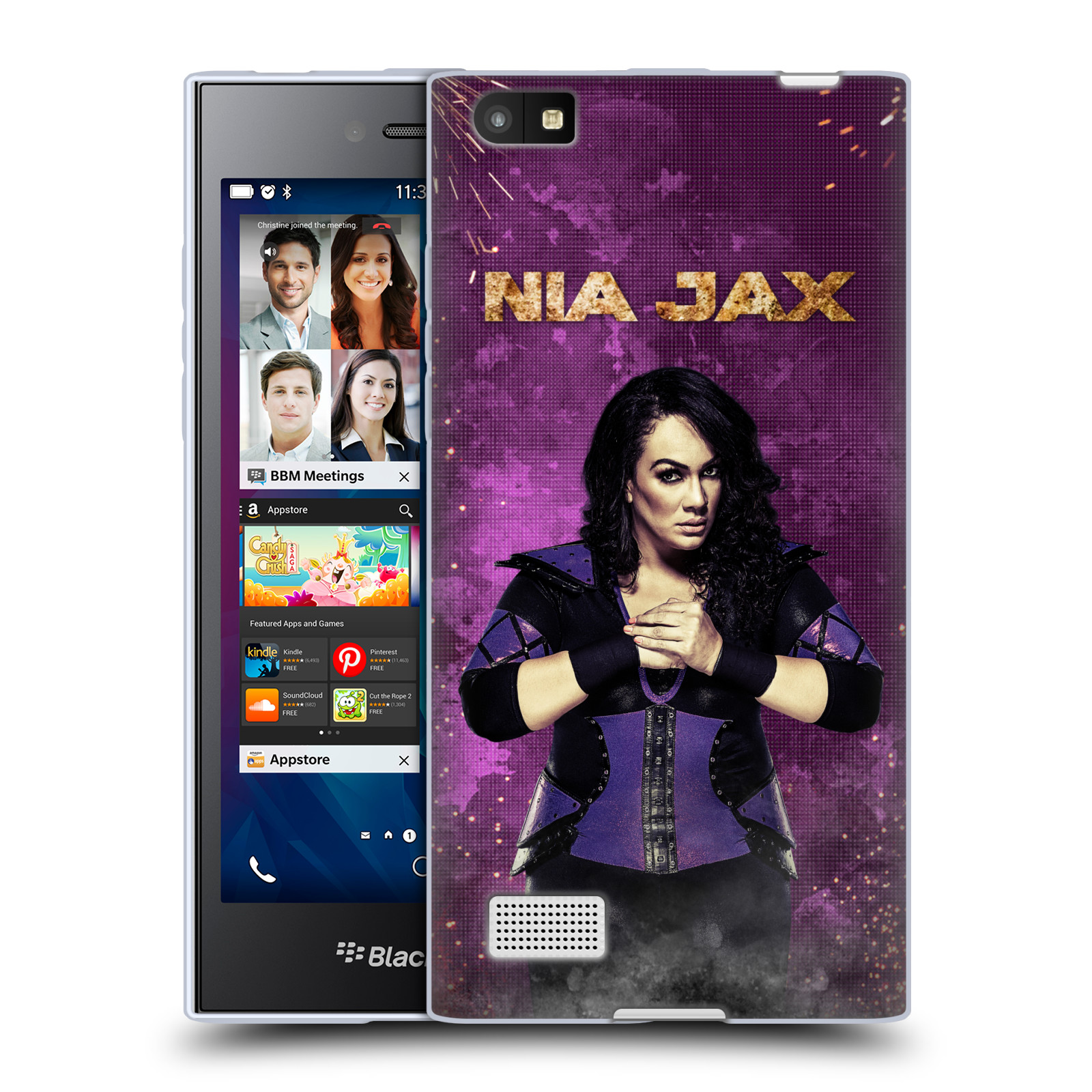 OFFICIAL WWE NIA JAX SOFT GEL CASE FOR BLACKBERRY PHONES
