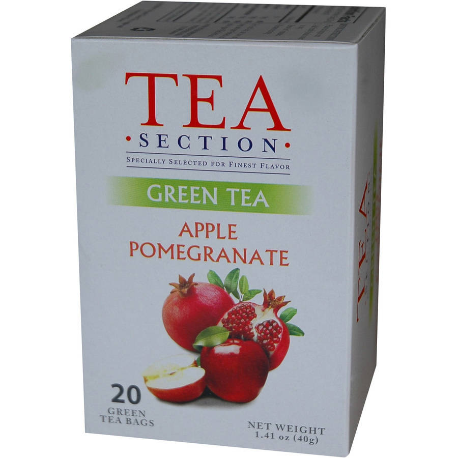 Tea Section Apple Pomegranate Green Tea Bags, 20 count