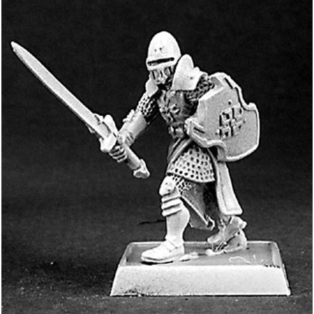 - Reaper Miniatures Templar Knight Warrior #14377 Crusaders Unpainted RPG D&D Mini