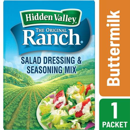 Hidden Valley Buttermilk Ranch Salad Dressing & Seasoning Mix, Gluten Free - 1 - Pouches Dip