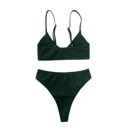Women Bikini Set Push Up Bikini Bralette Swimwear Cheeky Bikini Bottom Swimsuit