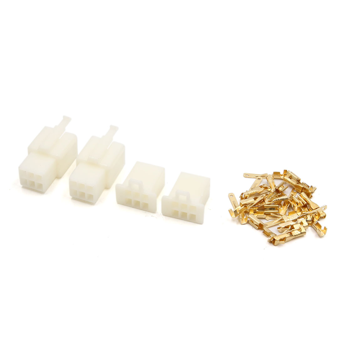 """2 Sets 6-pin 2.8mm 7/64"""" Male/Female 22-18AWG Nylon Latching Connector - image 1 of 1"""