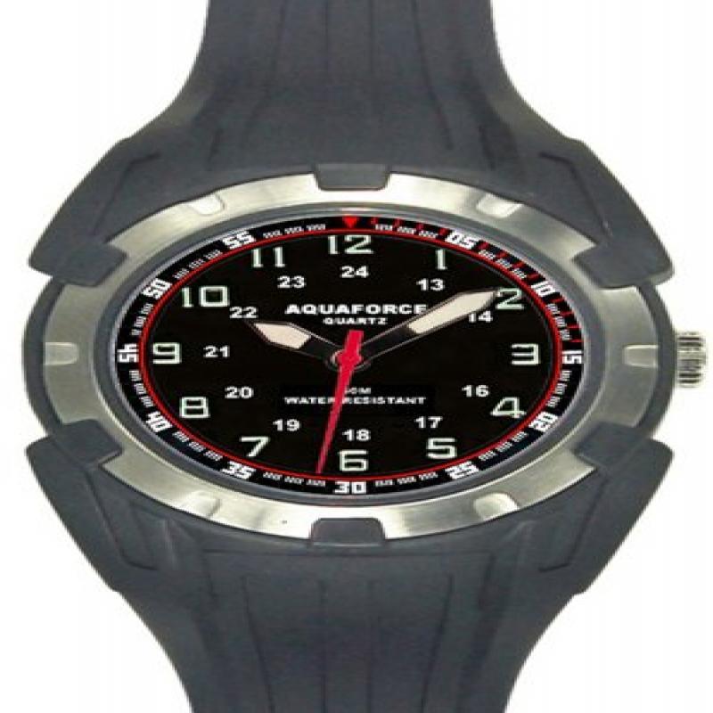 Image of Aqua Force 40mm Analog Quartz Watch, Black