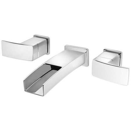 Pfister LG49-DF1C Kenzo 2-Handle Wall Mount Bathroom Faucet in Polished Chrome