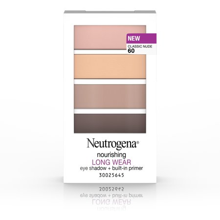 Neutrogena Nourishing Long Wear Eye Shadow + Built-In Primer, 60 Classic Nude,.24 Oz.