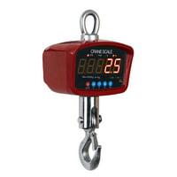Optima Scales OP-924B-1500 General Purpose Crane Scale - 1500 lbs x 0. 5 lb. LCD Display