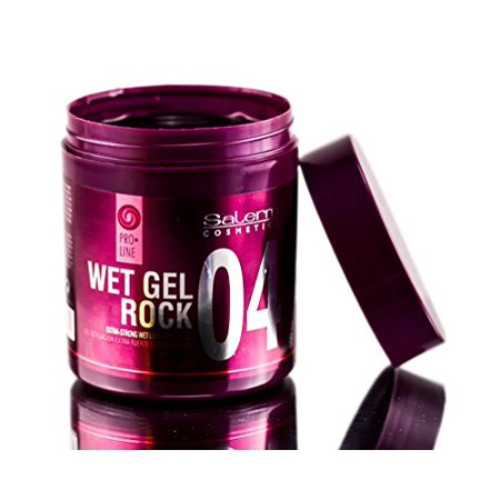 SALERM WET GEL ROCK 04 Extra-strong wet look styling gel with caffeine (17.8 oz / 500 (Best Product For Wet Hair Look)