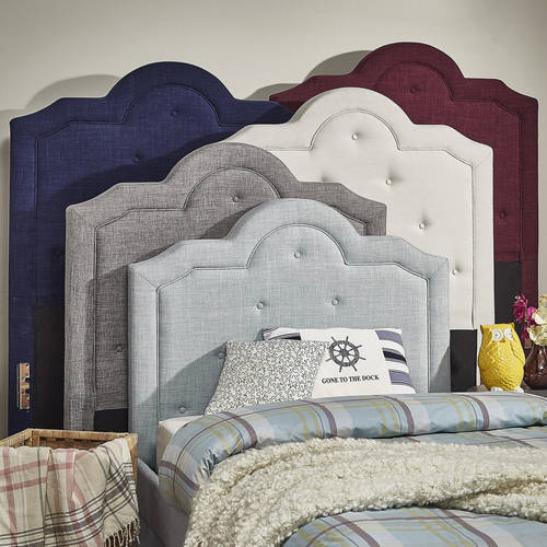 Weston Home Humboldt Twin Size Tufted Linen Headboard, Multiple Colors