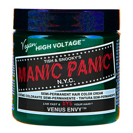 Venus Envy Green Manic Panic Vegan 4 Oz Hair Dye Color - Dark Green Hair Dye