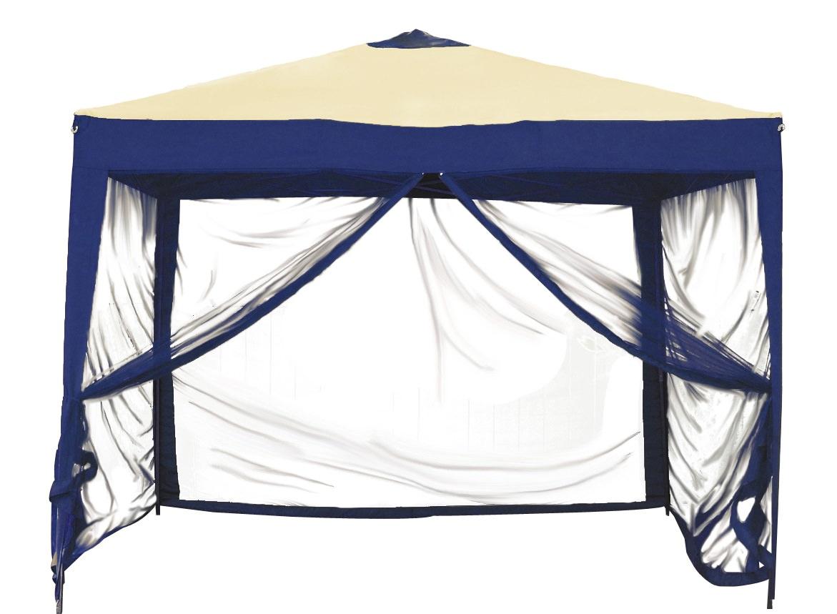EZ-Stow 10' X 10' Pop-up Gazebo with Mosquito Net Blue by