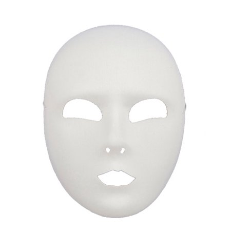 White Full Face Mask Halloween Accessory for $<!---->