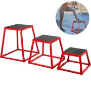 "VEVOR 3PCS Plyometric Jump Box Sets 12"" 18"" 24"" Plyo Cross Exercise Athletes Training"