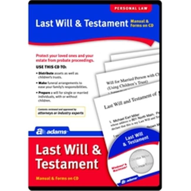 Adams ALC602 Prepare A Last Will & Testament, CD Version