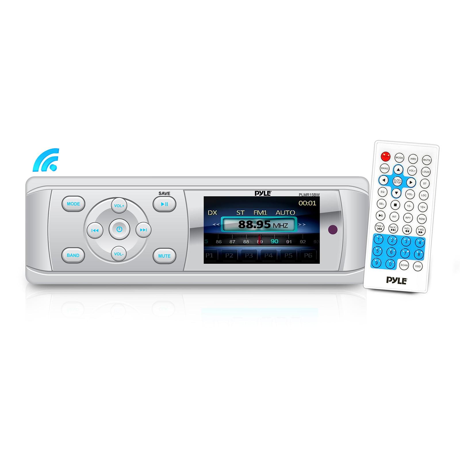 Car Audio Universal BT Marine Stereo Radio Receiver, Water-Resistant/Weatherproof, 3