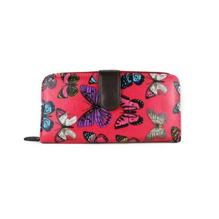 Miss Lulu Women's Designer Oilcloth Owl Spot Polka Dots Folded Zip Wallet Purse Bag 2 Plum -