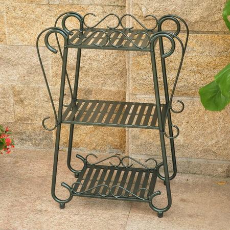 Bronze Antique Glass Shelf - International Caravan Santa Fe 3-Tier Plant Shelf Set