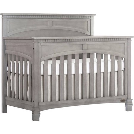 Evolur Santa Fe 5-in-1 Convertible Crib, Storm Grey (Santa Fe Zoo Halloween)