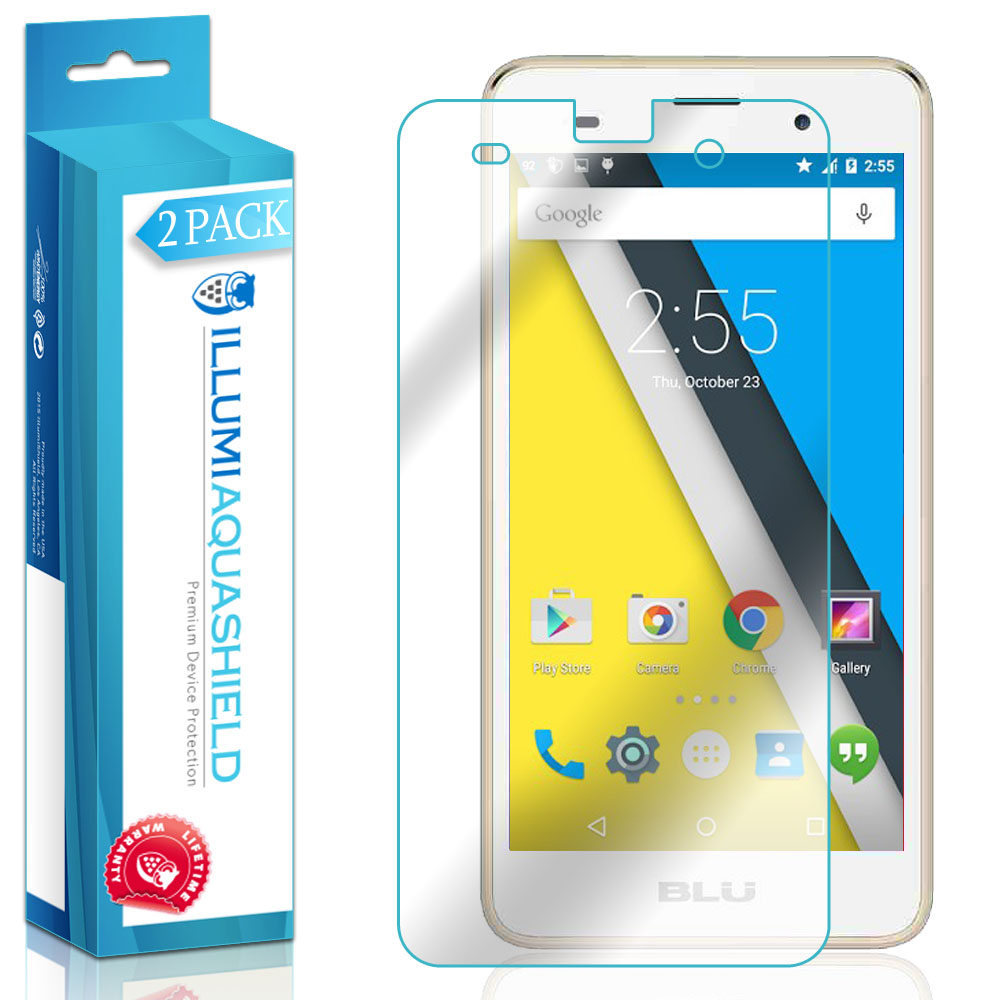 2x iLLumi AquaShield Clear Screen Protector Cover for BLU Dash M2