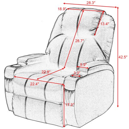 Lift Sofa Chair Electric Power Recliner w/ Remote & Cup Holder Living Room - image 9 of 10