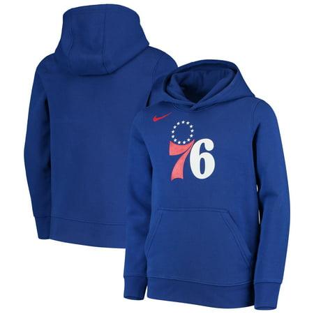 2f22af84e7c0 Philadelphia 76ers Nike Youth Essential Logo Hoodie - Royal - Walmart.com