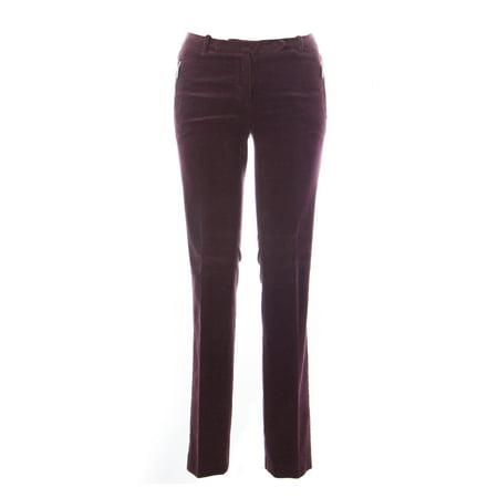 1970 Women's Corduroy Cotton Pants IT 42 Burgundy