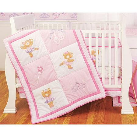 Li L Kids Ballerina Bear 4 Piece Crib Bedding Set