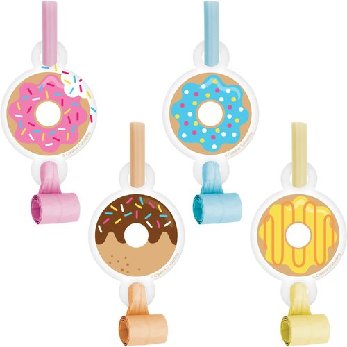 Creative Converting Donut Plastic/Paper Disposable Party Favor Set (Set of 24)