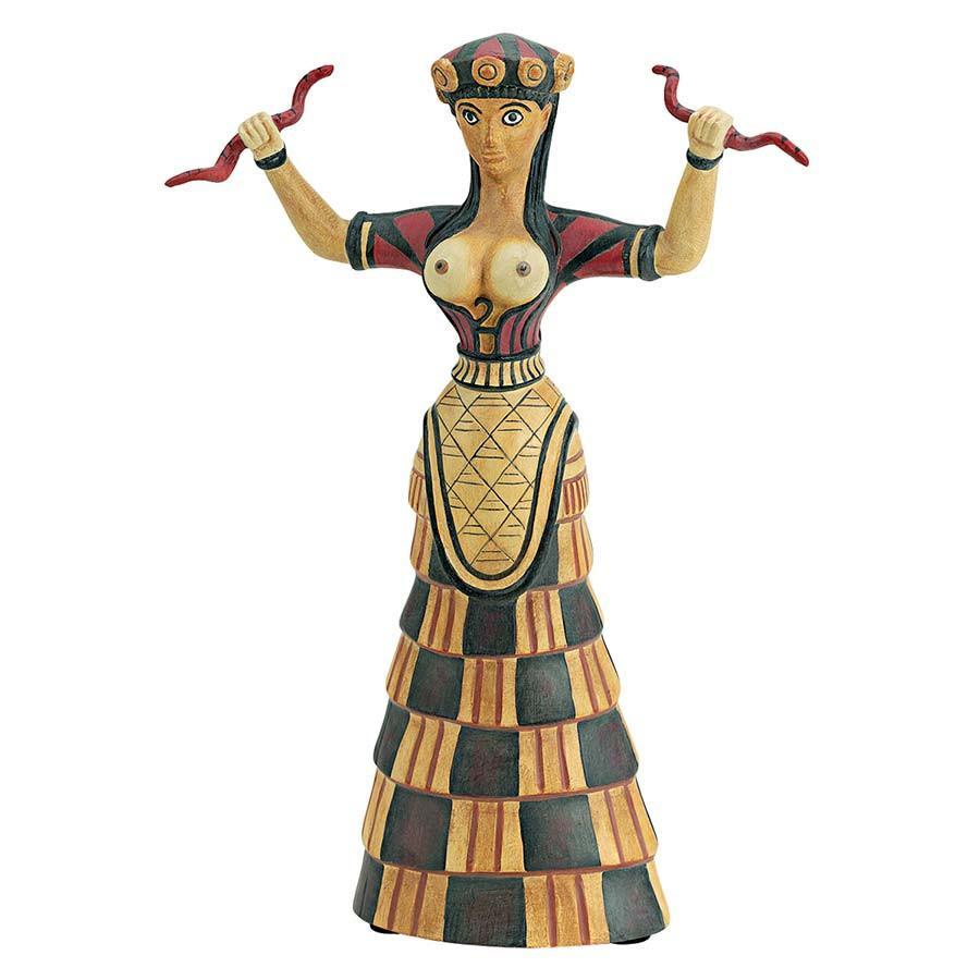 Museum Replica Knossos Snake Goddess Statue Sculpture Figurine
