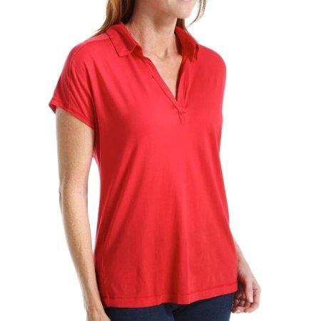 Women s Three Dots KD1197 Jersey Colette Susan Cap Sleeve Polo Tee ... 861d29d87c78