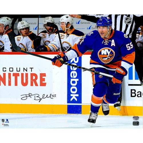 "Johnny Boychuk New York Islanders Fanatics Authentic Autographed 16"" x 20"" Blue Jersey Skating Photograph No... by Fanatics Authentic"