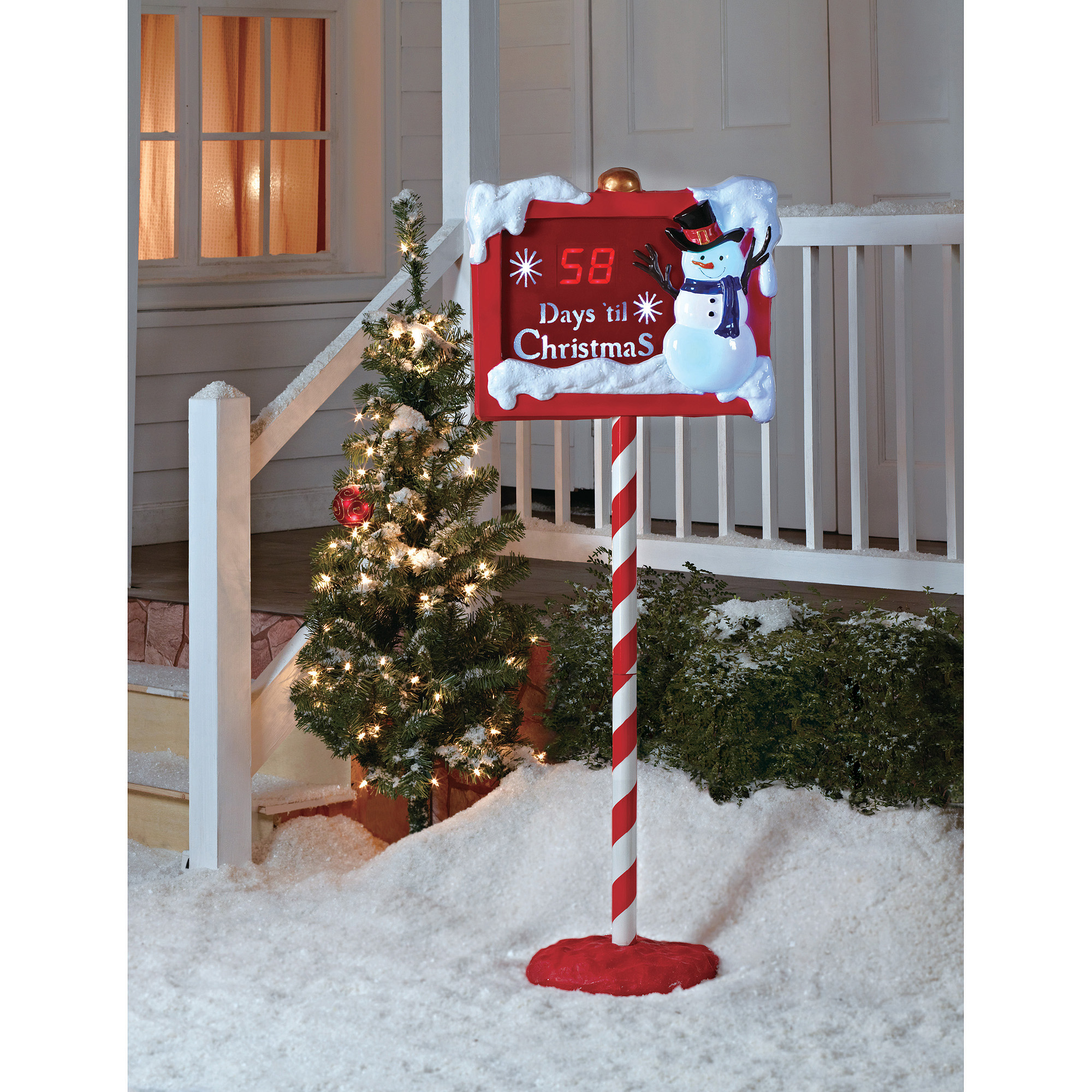 christmas countdown sign walmartcom - Walmart Christmas Yard Decorations