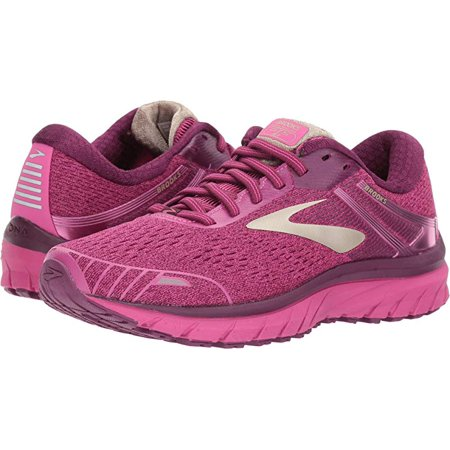 Brooks Women's Adrenaline GTS 18, Pink/Plum/Champagne, 5.5 B(M) US (Womens Brooks Adrenaline Gts)