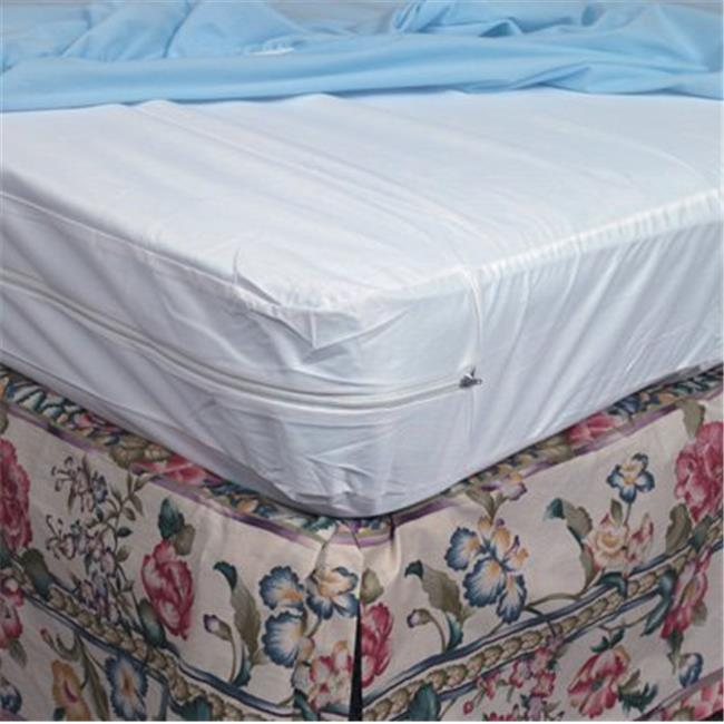 Zippered Plastic Protective Mattress Cover for Hospital Beds - 1 Dozen