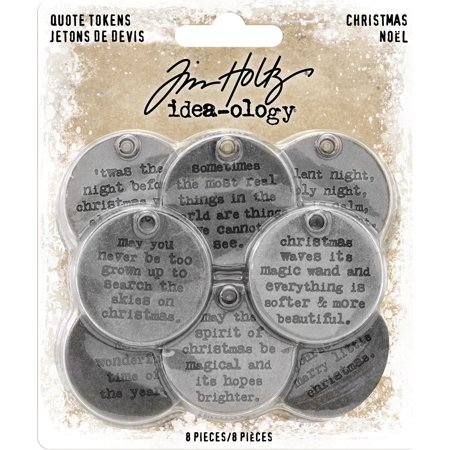 - Idea-Ology Metal Quote Tokens 8/Pkg-Christmas