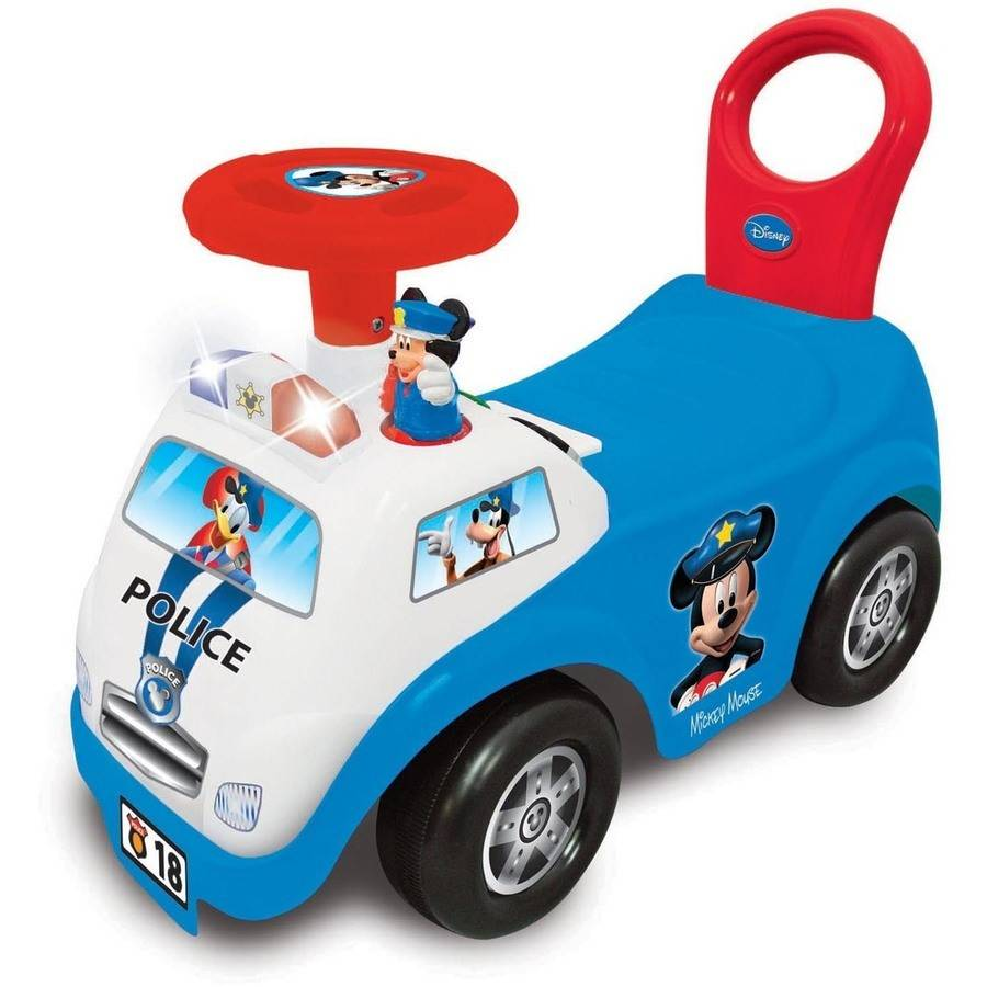 Kiddieland Disney Mickey Mouse My First Mickey Police Car Light and Sound Activity Ride-On by Kiddieland