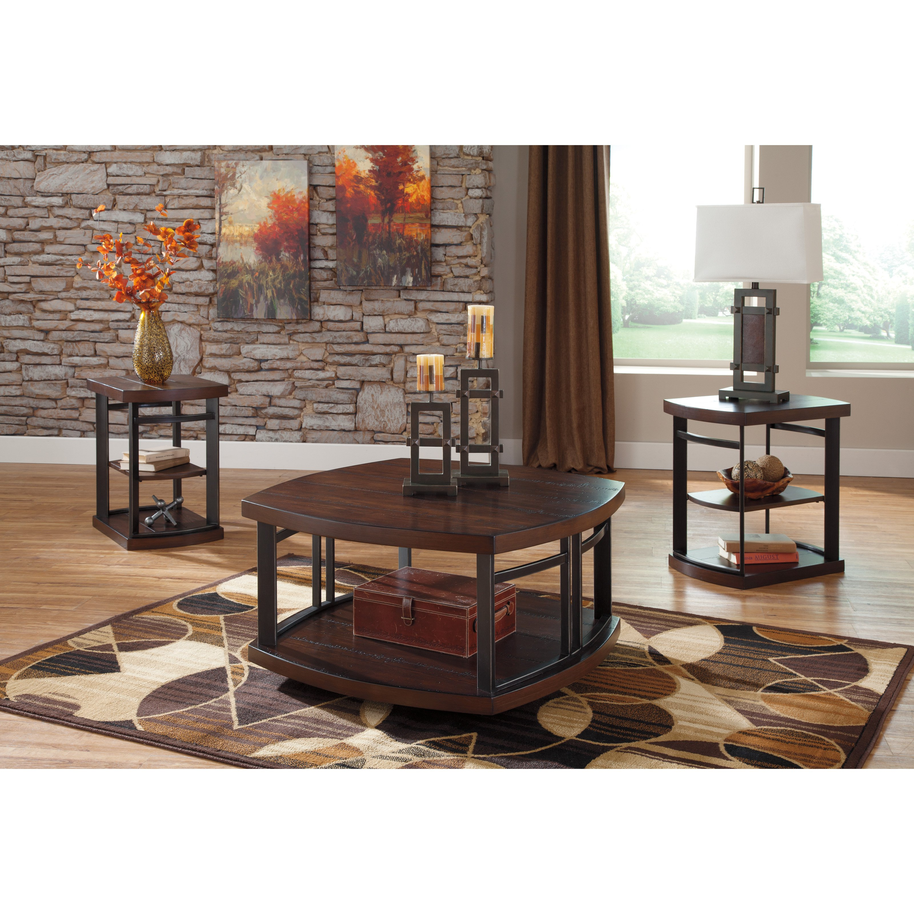 Signature Design by Ashley Challiman 3 Piece Coffee Table Set