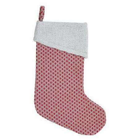 Latitude Run Red Stitched - Stitched Stockings