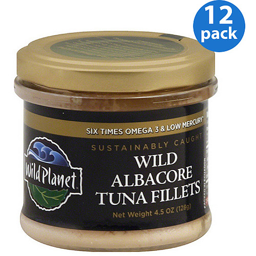 Wild Planet Wild Albacore Tuna Fillets, 4.5 oz, (Pack of 12)