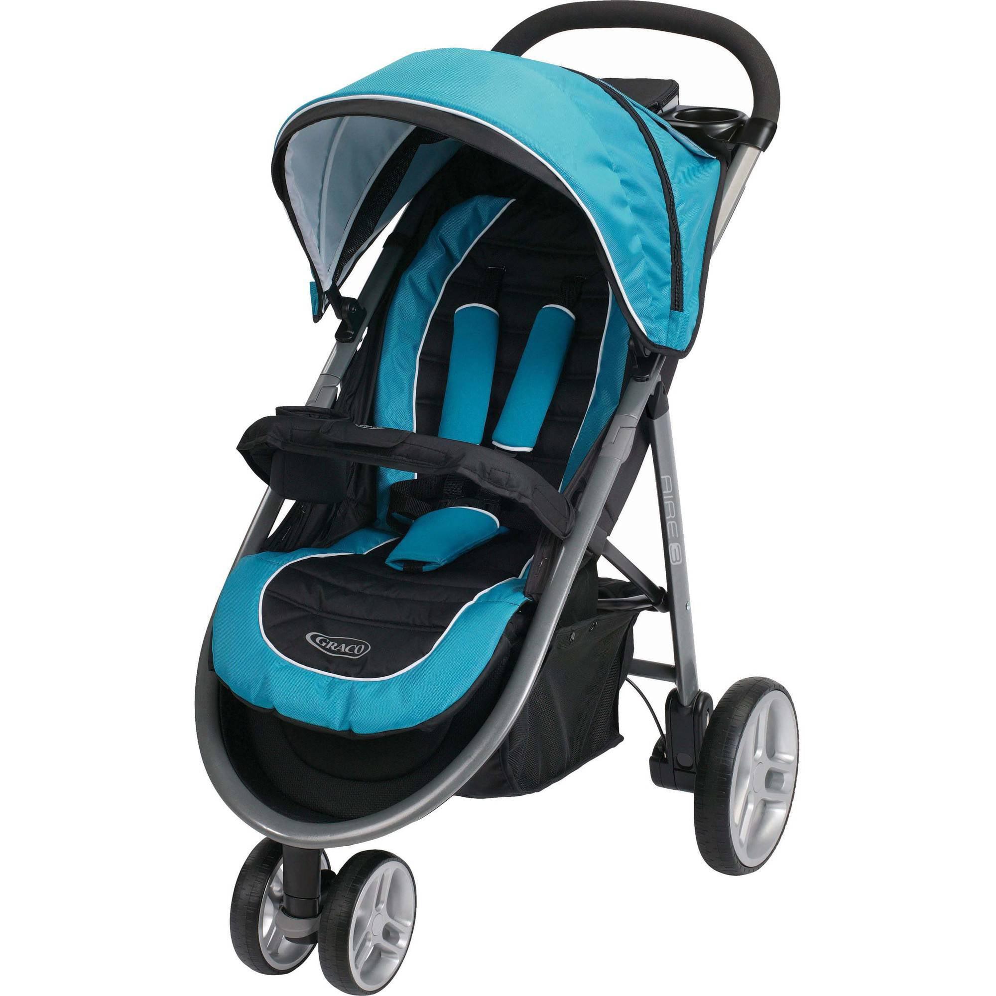 Graco Aire3 Click Connect Lightweight 3-Wheel Stroller, Poseidon