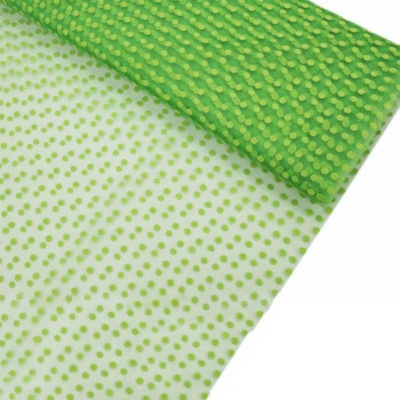 """Dots The Way I Like It Tulle - Apple Green 60""""x10yards"""