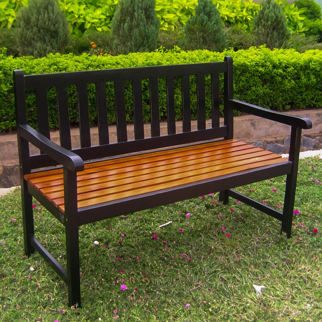 Highland Acacia Wood 49-inch Bench