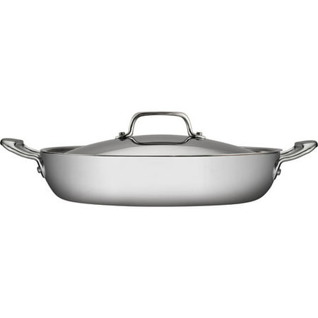 Tramontina 4 Qt Stainless Steel Tri Ply Clad Covered
