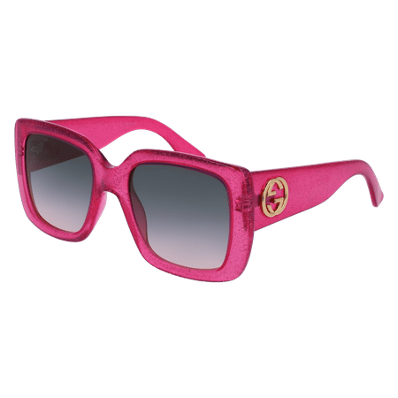 GG0141S-003 Pink 53mm Gucci GG0141S Urban Square Butterfly Woman Sunglasses