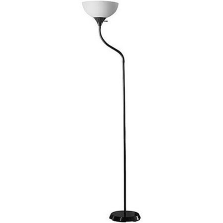 Mainstays Black Jelly Gooseneck Floor Lamp