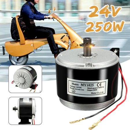 Electric Motor Brushed Electric Scooter Motor 250W 2-Wired Chain For E Bike Scooter Motorcycle DC24V DC 2750 RPM (2000 Watt Dc Motor)