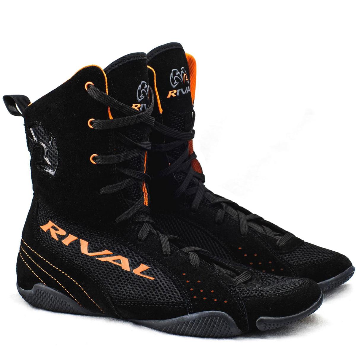 Rival Boxing Hi-Top Mesh Paneled RSX-ONE V2 Boots - Black/Orange